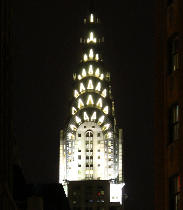 Chrysler Building by night
